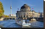 Bode Museum on Museum Island on River Spree  Berlin  Germany