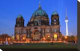Berlin Cathedral at the Pleasure Garden  Lustgarten  with Television Tower  Berlin  Germany