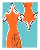 Friendly Foxes Sérigraphie par Print Mafia