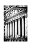 The New York Stock Exchange Building  Wall Street  Manhattan  NYC  White Frame