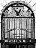 Nysc 30 Wall Street Building  Financial District  Manhattan  NYC  USA  Black and White Photography