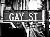 Urban Sign  Gay Street  Greenwich Village District  Manhattan  New York  USA