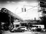 Urban Scene  Coney Island Av and Subway Station  Brooklyn  Ny  US  USA  Old