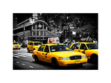 Yellow Cabs  72nd Street  IRT Broadway Subway Station  Upper West Side of Manhattan  New York