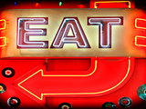 "Retail Signage ""Eat""  Restaurant Sign  New York  USA"