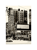 Urban Lifestyle Scene  Yellow Cab  Amsterdam  Upper West Side of Manhattan  NYC  White Frame