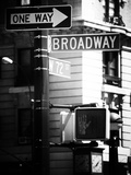 Urban Sign  Broadway  Manhattan  New York  United States  USA  Old Black and White Photography
