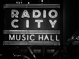 Lanes Entrance to the Radio City Music Hall by Night  Manhattan  Times Square  New York  Classic