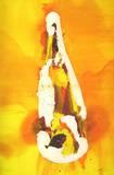 Flasche auf orangem Hintergrund