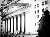 Statue of George Washington  New York Stock Exchange Building  Wall Street  Manhattan  NYC
