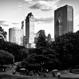 View of the Buildings around Central Park on a Summer Evening at Sunset  Manhattan  New York