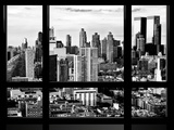 Window View  Landscape at Sunset  Theater District and Hell's Kitchen Views  Manhattan  New York