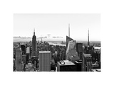 Skyline at Sunset  Empire State Building  Manhattan  US  White Frame  Full Size Photography