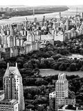 Uptown Manhattan and Central Park from the Viewing Deck of Rockefeller Center  New York