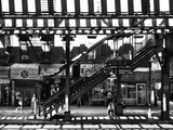 Subway Station  Williamsburg  Brooklyn  New York  United States  Black and White Photography