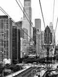 Roosevelt Island Tram Station (Manhattan Side)  Manhattan  New York  Black and White Photography
