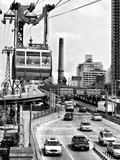 Roosevelt Island Tram and Ed Koch Queensboro Bridge (Queensbridge) Entry View  Manhattan  New York