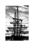 """El Galeon"" at Sunset  Authentic Replica of 17th Century Spanish Galleon  Pier 84  New York"