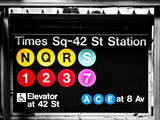 Subway Sign at Times Square  42 St Station  Manhattan  New York  Special
