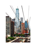 Roosevelt Island Tram Station (Manhattan Side)  Manhattan  New York  White Frame