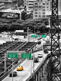 "Road Traffic on ""59th Street Bridge"" (Queensboro Bridge)  Manhattan Downtown  NYC"