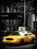Yellow Taxis  108 Fifth Avenue  Flatiron  Manhattan  New York City  Black and White Photography