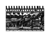 Subway Station  Williamsburg  Brooklyn  New York  White Frame  Full Size Photography