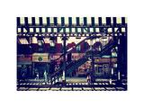 Subway Station  Williamsburg  Brooklyn  New York  US  White Frame  Full Size Photography  Vintage