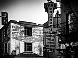 Old Shops and Stores in Philadelphia  Pennsylvania  United States  Black and White Photography