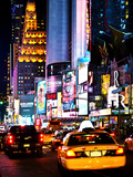 Urban Scene by Night  Times Square  Manhattan  New York City  United States