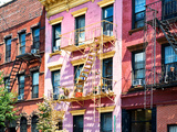 Colorful Buildings with Fire Escape  Williamsburg  Brooklyn  New York  United States