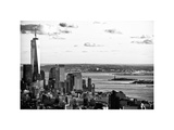 The One World Trade Center (1WTC)  Hudson River and Statue of Liberty View  Manhattan  New York