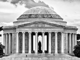 The Thomas Jefferson Memorial  Washington DC  District of Columbia  Black and White Photography