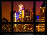 Window View  Special Series  Manhattan by Night  Times Square  New York City  United States