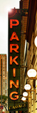 Vertical Panoramic  Garage Parking Sign  W 43St  Times Square  Manhattan  New York  US  Vintage