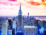 Urban Stretch Series  Fine Art  Skyline  Sunset  Empire State Building  Manhattan  NYC  US