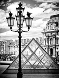 View of the Pyramid and the Louvre Museum Building  Paris  France  Europe