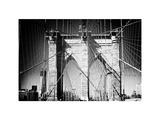 Brooklyn Bridge  Manhattan  New York  White Frame  Full Size Photography