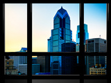 Window View  Special Series  Sunset Philly Skyscrapers View  Philadelphia  Pennsylvania  US  USA