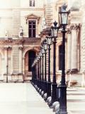 Lamps  the Louvre Museum  Paris  France