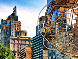 Columbus Circle  Globe Sculpture  59 Street and Columbus Ave  Essex House Building  New York City