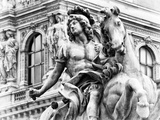 Museum of the Louvre  Statue Equestrian of Louis XIV  Paris  France