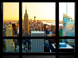 Window View  Special Series  Sunset  Empire State Building  Manhattan  New York  United States