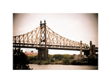 Ed Koch Queensboro Bridge (Queensbridge)  Long Island City  New York  Vintage  White Frame