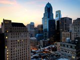 Philly Skyscrapers at Nightfall  Philadelphia  Pennsylvania  United States