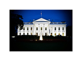 The White House by Night  Official Residence of the President of the US  Washington DC  Vintage