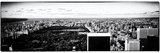 Landscape Panoramic Sunset  Central Park  New York with White Frame  Full Size Photography Vintage