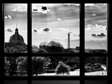 Window View  Special Series  Eiffel Tower and Seine River View at Sunset  Paris