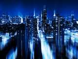 Urban Stretch Series  Fine Art  Blue Night  Manhattan  New York  United States