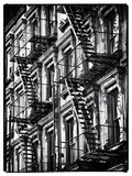 Lifestyle Instant  Fire Staircase  Black and White Photography Vintage  Manhattan  NYC  US